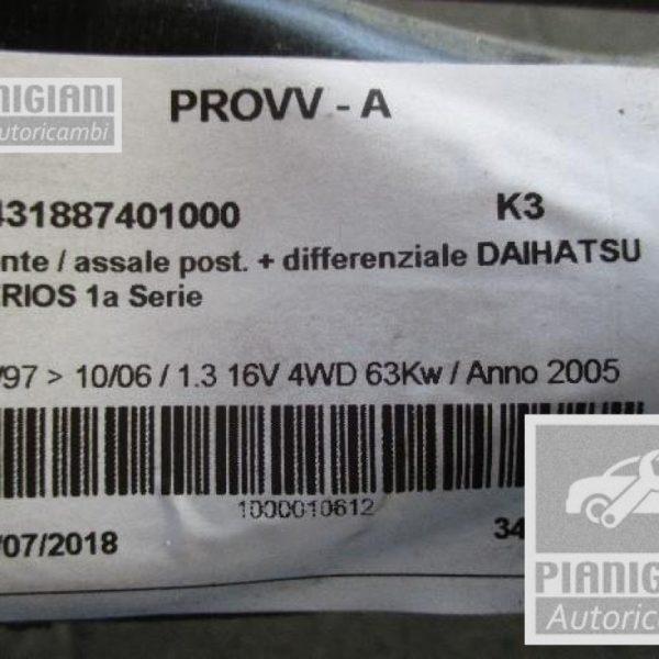 Assale / Ponte Posteriore   Daihatsu Terios K3